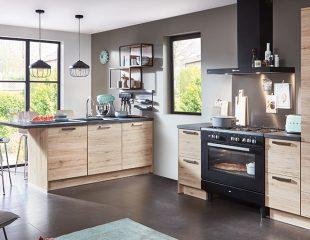 nieuwe keuken hout